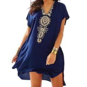 Lilly Pulitzer Chai Embellished Caftan Dress, S/M